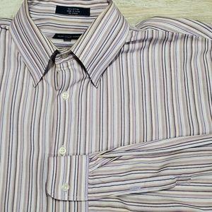Alan Flusser XXL 2XL Colorful Stripe Shirt Cotton